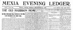 Mexia Evening Ledger newspaper archives