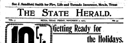Mexia State Herald newspaper archives