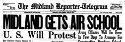 Midland Reporter Telegram newspaper archives