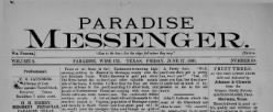 Paradise Messenger newspaper archives