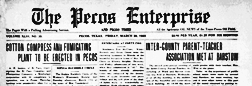 Pecos Enterprise And Gusher newspaper archives