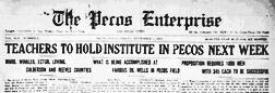 Pecos Enterprise newspaper archives
