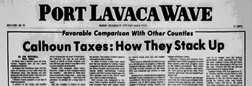 Port Lavaca Wave newspaper archives