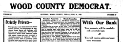 Quitman Wood County Democrat newspaper archives