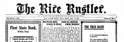 Rice Rustler newspaper archives
