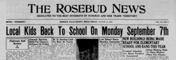 Rosebud News newspaper archives