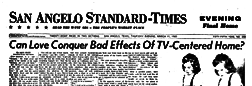 San Angelo Standard Times newspaper archives