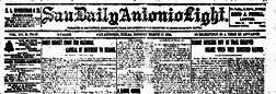 San Daily Antonio Light newspaper archives