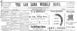 San Saba Weekly News newspaper archives