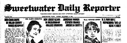 Sweetwater Daily Reporter newspaper archives