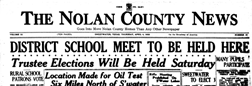 Sweetwater Nolan County News newspaper archives