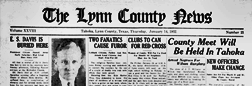 Tahoka Lynn County News newspaper archives