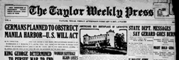 Taylor Weekly Prress newspaper archives