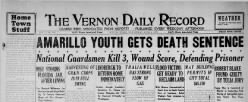 Vernon Daily Record newspaper archives