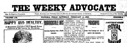 Victoria Weeky Advocate newspaper archives