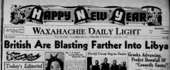 Waxahachie Daily Light newspaper archives