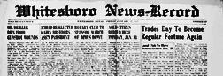 Whitesboro News Record newspaper archives