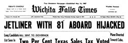 Wichita Falls Times newspaper archives