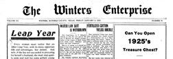 Winters Enterprise newspaper archives