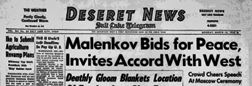 Salt Lake City Deseret News And Telegram newspaper archives