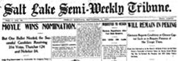 Salt Lake Semi Weekly Tribune newspaper archives