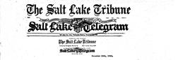 Salt Lake Tribune Salt Lake Telegram newspaper archives