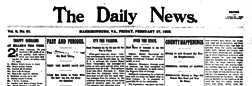 Harrisonburg Daily News newspaper archives