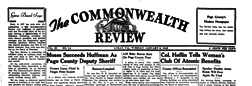 Luray Commonwealth Review newspaper archives
