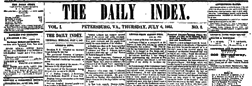 Petersburg Daily Index newspaper archives