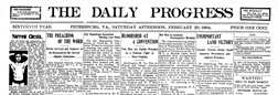 Petersburg Daily Progress newspaper archives