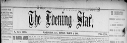 District Of Columbia Evening Star newspaper archives