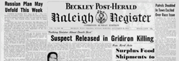 Beckley Post Herald Raleigh Register newspaper archives