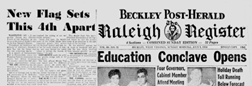 Beckley Raleigh Register Beckley Post Herald newspaper archives