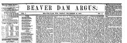 Beaver Dam Argus newspaper archives