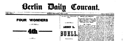 Berlin Daily Courant newspaper archives