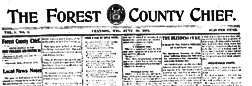 Crandon Forest County Chief newspaper archives