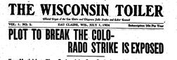 Wisconsin Toiler newspaper archives