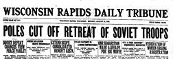 Wisconsin Rapids Daily Tribune Grand Rapids Wisconsin newspaper archives
