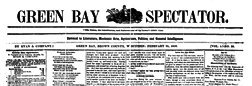 Green Bay Spectator newspaper archives