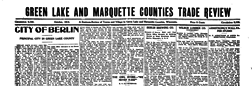 Green Lake And Marquette Counties Trade Review newspaper archives