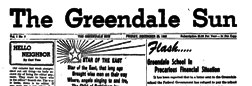 Greendale Sun newspaper archives