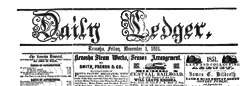 Daily Ledger newspaper archives
