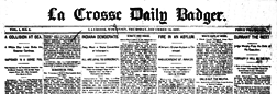 La Crosse Daily Badger newspaper archives