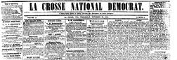 La Crosse National Democrat newspaper archives