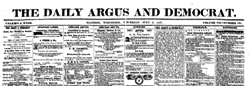 Madison Daily Argus And Democrat newspaper archives