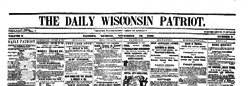 Madison Daily Wisconsin Patriot newspaper archives