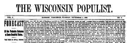 Madison Wisconsin Populist newspaper archives