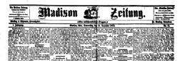 Madison Zeitung newspaper archives