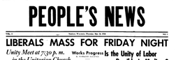 Peoples News newspaper archives
