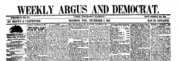 Weekly Argus And Democrat newspaper archives